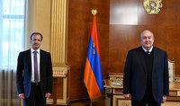 Le Président Armen Sarkissian a reçu le Président de la FIDE Arkady Dvorkovich