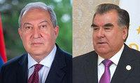 Убеждён, что таджикско-армянские отношения дружбы и впредь будут развиваться и преумножаться – Президента Армена Саркисяна поздравил Президент Таджикистана