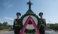 On behalf of President Armen Sarkissian, a wreath was laid at the Monument to the Unknown Soldier