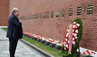 Президент Армен Саркисян в Москве воздал дань уважения памяти дважды Героя СССР, Маршала Советского Союза Ованнеса Баграмяна