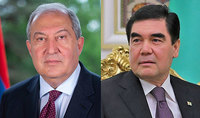 """The memory of our ancestors' heroism will serve a """"solid foundation strengthening friendship between our countries"""". The President of Turkmenistan sent a congratulatory message to President Armen Sarkissian"""