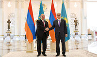 President of Kazakhstan Tokayev and First President Nazarbayev sent congratulatory messages to President Armen Sarkissian on the anniversary of the victory in the Great Patriotic War