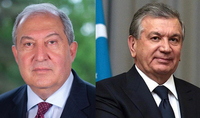 По случаю годовщины Победы в Великой Отечественной войне Президента Саркисяна поздравил Президент Узбекистана