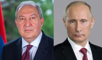 President Armen Sarkissian sent a message of condolences to the RF President Vladimir Putin on the tragedy in Kazan
