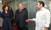 Le Président Armen Sarkissian a visité le siège de la société Yandex