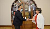 Տիկին Նունե Սարգսյանը հյուրընկալել է Շարժայի ժառանգության ինստիտուտի տնօրենին