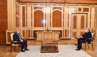 Президент Армен Саркисян принял посла России в Армении Сергея Копыркина