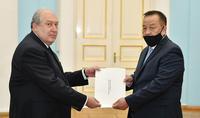 Le nouvel ambassadeur de Mongolie en Arménie a présenté ses lettres de créance au Président Armen Sarkissian