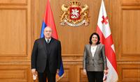 Հանձնառու ենք հաջորդ սերունդներին փոխանցել մեր նախնիներից ժառանգած բարեկամական հարաբերությունները. նախագահ Արմեն Սարգսյանն ուղերձ է հղել Սալոմե Զուրաբիշվիլիին