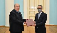 Президент Армен Саркисян принял верительные грамоты новоназначенного посла Иордании в Армении