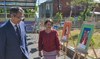 An Armenian-Kazakh exhibition will open at Marie Izmirlian Orphanage under the auspices of the President's wife Nouneh Sarkissian