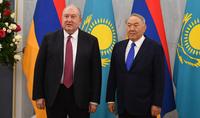 L'Arménie et le Kazakhstan entretiennent des relations historiquement chaleureuses. Le président Armen Sarkissian a rencontré Noursoultan Nazarbaïev.