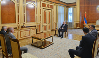 Президент Армен Саркисян принял делегацию НПО «Союз офицеров запаса СНБ»