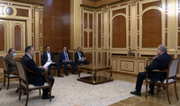President Armen Sarkissian discussed issues related to the development of science and technology with the officials in charge of high technologies, economics, and the Executive Director of FAST