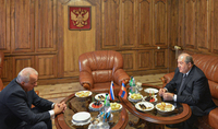 On the eve of the state holiday of the Russian Federation, President Armen Sarkissian visited the Russian Embassy in Armenia