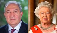 Армения придаёт большое значение непрерывному развитию разностороннего сотрудничества с Великобританией – Президент Саркисян направил поздравительное послание Королеве Елизавете II по случаю национального праздника