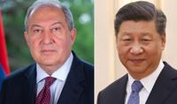 Je suis convaincu que la coopération mutuellement bénéfique arméno-chinoise, continuera à se renforcer et à s'approfondir. Le Président Armen Sarkissian a adressé un message de félicitations au Président chinois Xi Jinping