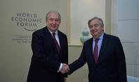 Հայաստանը կարևորում է ՄԱԿ-ի հետ շարունակական ամուր և կառուցողական հարաբերությունները. նախագահ Արմեն Սարգսյանը շնորհավորել է Անտոնիո Գուտերեշին՝ կազմակերպության գլխավոր քարտուղարի պաշտոնում վերընտրվելու առթիվ