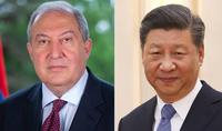Պատրաստ եմ Ձեզ հետ ջանքեր գործադրել երկկողմ հարաբերությունները նոր մակարդակի բարձրացնելու համար. Չինաստանի նախագահը ծննդյան օրվա առթիվ շնորհավորել է նախագահ Արմեն Սարգսյանին