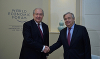 Armenia attaches importance to continuous strong and constructive relations with the UN. President Armen Sarkissian congratulates Antonio Guterres on the re-election as Secretary General of the organization