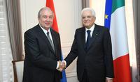 Նախագահ Արմեն Սարգսյանին ծննդյան օրվա առթիվ շնորհավորել է Իտալիայի նախագահ Սերջիո Մատարելլան