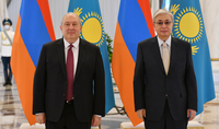 To continue our constructive dialogue will contribute to the expansion of Armenian-Kazakh cooperation. President of Kazakhstan Kassym-Jomart Tokayev congratulates President Armen Sarkissian on his birthday