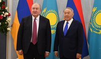 Armenian-Kazakh friendly relations will promote mutually beneficial cooperation in the future. Nursultan Nazarbayev congratulated President Armen Sarkissian on his birthday
