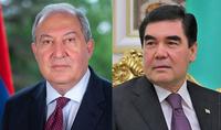 President of Turkmenistan Berdimuhamedov congratulated President Armen Sarkissian on his birthday