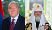 You contribute to the consolidation of the society for the sake of the dignified future of the country. Patriarch of Moscow and All Russia congratulates President Armen Sarkissian on his birthday