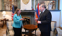President Armen Sarkissian visited the US Ambassador to Armenia on the eve of the the Independence Day of the United States of America