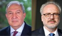 Le Président Armen Sarkissian a adressé un message de félicitations au Président de la Lettonie