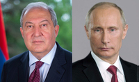 President Armen Sarkissian expressed condolences to the RF President Vladimir Putin over the plane crash in Kamchatka