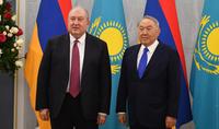 Nous apprécions votre contribution personnelle au développement des relations amicales entre nos pays. Le Président Armen Sarkissian a félicité Noursoultan Nazarbaïev à l'occasion de son anniversaire