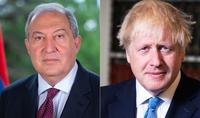 President Armen Sarkissian congratulated the Prime Minister of the United Kingdom Boris Johnson on his birthday