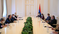 President Armen Sarkissian received the Commissioner for European Neighbourhood Policy and Enlargement Negotiations Olivér Várhelyi