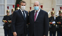 L'Arménie attache une grande importance aux efforts constants de la France, en particulier votre contribution personnelle au règlement pacifique du conflit du Haut-Karabakh. Le président Armen Sarkissian a envoyé un message de félicitations à Emmanuel Macron
