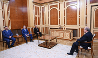 President Armen Sarkissian received the heads of the RA Police, NSS, and SSS