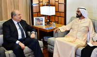 President Armen Sarkissian sent a congratulatory message to Sheikh Mohammed bin Rashid Al Maktoum, the UAE Vice President and Governor of the Emirate of Dubai