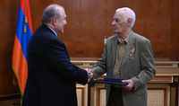 What you have done is of great value to our architecture. President Armen Sarkissian presented a high state award to Honoured Architect Sashur Kalashyan