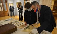 Dans le cadre de la visite officielle du Président de la République d'Arménie Armen Sarkissian en Géorgie, Mme Nouneh Sarkissian a visité le Musée du Palais des Arts à Tbilissi