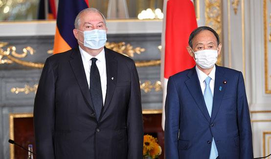 Армения хочет придать новое качество отношениям с Японией и начать новую страницу взаимодействия. Президент Саркисян встретился с Премьер-министром Японии Ёсихидэ Сугой