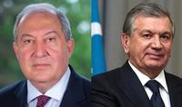 Президент Саркисян направил поздравительное послание Президенту Узбекистана Шавкату Мирзиёеву