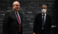 President Sarkissian discussed issues of cooperation in the field of science and education with the leadership of the Kavli Institute of Physics and Mathematics