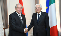 Armenia attaches importance to the partnership with friendly Italy, based on common civilizational values. President Sarkissian congratulated Sergio Matarella