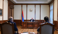 President Armen Sarkissian discussed the progress of projects in Artsakh and Syunik marz with the Executive Director of the Hayastan All-Armenian Fund