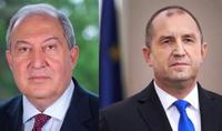 Le Président Armen Sarkissian a eu une conversation téléphonique avec le Président de la Bulgarie Rumen Radev