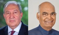 Президент Армен Саркисян направил поздравительное послание по случаю национального праздника Индии – Дня независимости