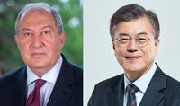 Le Président Armen Sarkissian a félicité le Président de la République de Corée à l'occasion de la fête nationale de son pays