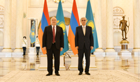 President Armen Sarkissian congratulated the President of Kazakhstan Kassym-Jomart Tokayev on Constitution Day