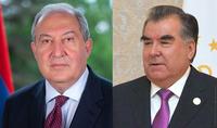 Президент Саркисян поздравил Президента Эмомали Рахмона с 30-летием независимости Таджикистана